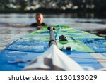 sup board and paddle closeup    Shutterstock . vector #1130133029