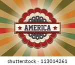 old americana sign | Shutterstock .eps vector #113014261