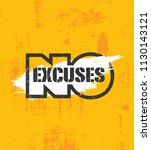 no excuses. fitness gym muscle... | Shutterstock .eps vector #1130143121