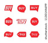 buy sign and sticker  sale tag  ... | Shutterstock .eps vector #1130144699
