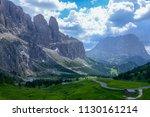 beautiful summer mountain view...   Shutterstock . vector #1130161214