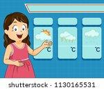 illustration of a kid girl...   Shutterstock .eps vector #1130165531