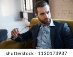 young bearded stylish... | Shutterstock . vector #1130173937