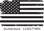 american flag in grunge style...   Shutterstock .eps vector #1130177894