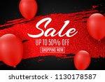 web banner for sale. red grunge ... | Shutterstock .eps vector #1130178587