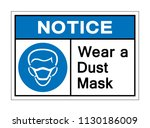 notice wear a dust mask symbol... | Shutterstock .eps vector #1130186009