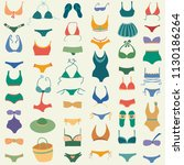 swimming suit vector seamless... | Shutterstock .eps vector #1130186264