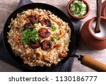 tasty and delicious prawns... | Shutterstock . vector #1130186777