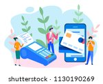concept online and mobile...   Shutterstock .eps vector #1130190269