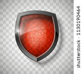 protection shield encoded...   Shutterstock .eps vector #1130190464