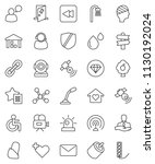 thin line vector icon set  ... | Shutterstock .eps vector #1130192024