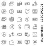 thin line vector icon set  ... | Shutterstock .eps vector #1130192201