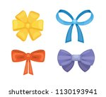cartoon cute gift bows with... | Shutterstock . vector #1130193941