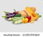 isolated vector set of garden... | Shutterstock .eps vector #1130194364