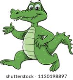 cute crocodile cartoon mascot | Shutterstock .eps vector #1130198897