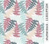fern frond herbs  tropical... | Shutterstock .eps vector #1130199104