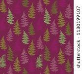 fern frond herbs  tropical... | Shutterstock .eps vector #1130199107