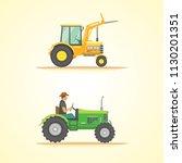farm tractor icon illustration. ... | Shutterstock . vector #1130201351