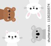 koala  bear grizzly  rabbit ... | Shutterstock .eps vector #1130203574