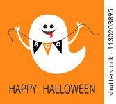flying ghost spirit holding... | Shutterstock .eps vector #1130203895