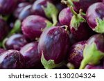 round shape purple fresh... | Shutterstock . vector #1130204324