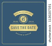 wedding invitation card design... | Shutterstock .eps vector #1130207351