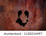 Abstract Black Hold With Rusty...