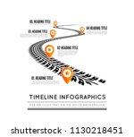 tire tracks timeline... | Shutterstock .eps vector #1130218451