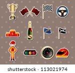 f1 racing stickers | Shutterstock .eps vector #113021974