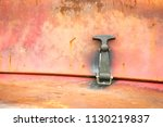 latch and peeling paintwork on... | Shutterstock . vector #1130219837