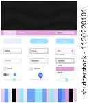 light multicolor vector ui ux...