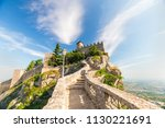 San Marino Fortress On Clear...