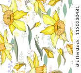 seamless floral decorative... | Shutterstock .eps vector #1130230481