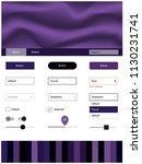 dark purple vector ui ux kit...