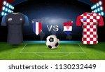 france vs croatia  final match... | Shutterstock .eps vector #1130232449