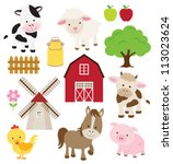 vector illustration of farm... | Shutterstock .eps vector #113023624