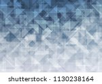 light blue vector low poly.... | Shutterstock .eps vector #1130238164
