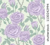 floral seamless pattern with... | Shutterstock .eps vector #1130242994
