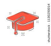 cartoon education hat icon in...   Shutterstock .eps vector #1130250014