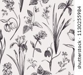 seamless floral pattern in... | Shutterstock .eps vector #1130255984