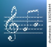 music violin clef sign. g clef...   Shutterstock .eps vector #1130256644