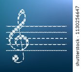 music violin clef sign. g clef. ...   Shutterstock .eps vector #1130256647