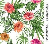 tropical flowers hibiscus... | Shutterstock .eps vector #1130269211