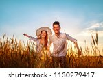 girl and boy teenagers in white ... | Shutterstock . vector #1130279417