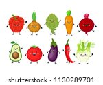 funny cartoon set of different... | Shutterstock .eps vector #1130289701