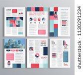 business brochure template... | Shutterstock .eps vector #1130291234