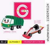 letter g uppercase children... | Shutterstock .eps vector #1130293124