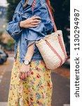 street style fashion details.... | Shutterstock . vector #1130294987