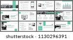 green presentation templates... | Shutterstock .eps vector #1130296391