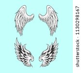 angle wings vector | Shutterstock .eps vector #1130298167